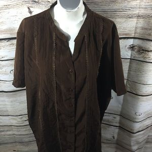 Tops - Brylane Women Top size 32W brown